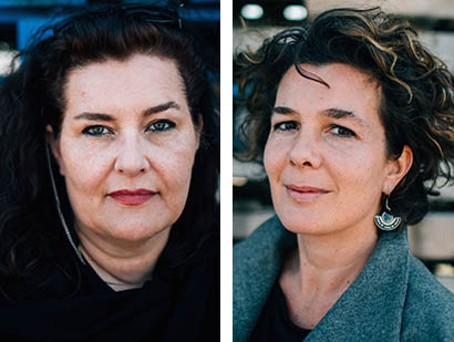 Vilborg Einarsdottir, left, editor in chief of the magazine Jewels of the North Atlantic, and her business partner and co-editor Kolfinna Baldvinsdottir are in Maine seeking support for a Web-based magazine that would foster an identity for people on the coasts of both sides of the North Atlantic.