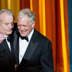 Bill Murray and David Letterman appear together at The Comedy Awards presented by Comedy Central in New York in this 2011 photo. The Associated Press