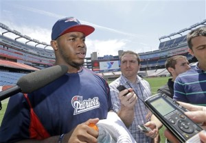 New England Patriots rookie Shaq Mason speaks to the media at Gillette Stadium in Foxborough, Mass., Thursday. The Associated Press