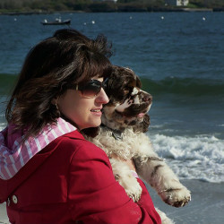 Carol Bryant travels with with dog, Dexter. She visited Cape Elizabeth in 2012 where this photograph was taken.