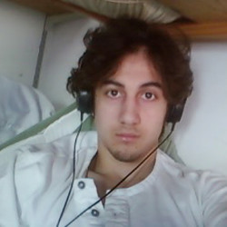 Dzhokhar Tsarnaev is pictured in this handout photo presented as evidence by the U.S. Attorney's Office in Boston on March 23, 2015.