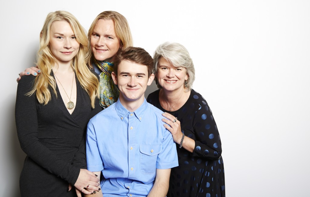 "Sutton Crawford, from left, Carly Lehwald, Ben Lehwald and Suzy Crawford from the ABC Family docu-series ""Becoming Us"" pose for a portrait in New York. The series airs Monday at 9 p.m. EDT on ABC Family. The Associated Press"