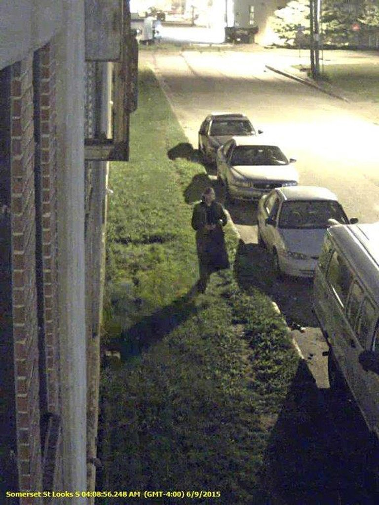 This security camera image shows a person of interest related to motor vehicle burglaries that occurred in Portland in the early morning hours of June 9.