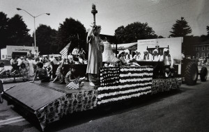 A float makes its way down a Sanford street in the Independence Day parade in 1990. From the Press Herald archive