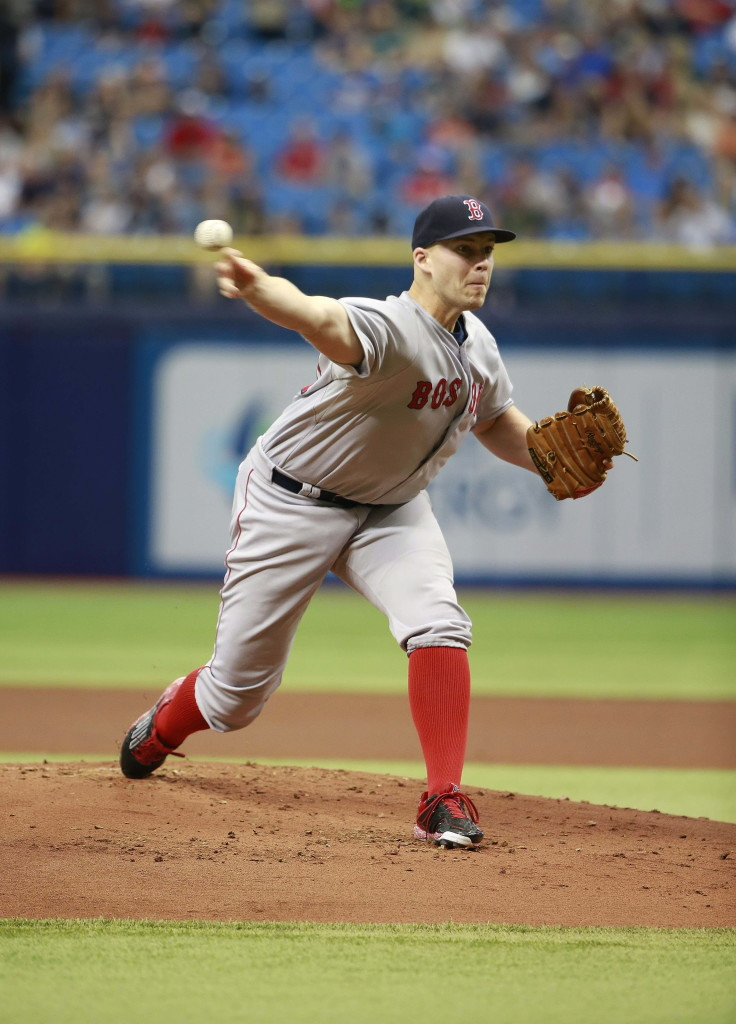 Justin Masterson, making his first appearance for the Red Sox since May 12, struck out six without issuing a walk and allowed one unearned run in five innings. Kim Klement/USA Today