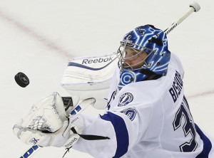 Former University of Maine goalie Ben Bishop is just the third goalie to have a shutout in two Games 7s in the same postseason. Bishop and the Tampa Bay Lightning will play Chicago in the Stanley Cup finals, which start Wednesday.