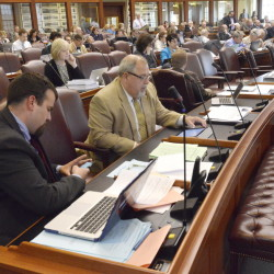 The Maine House of Representatives is shown at work this month. Gov. Paul LePage is routinely vetoing legislation that reaches his desk.