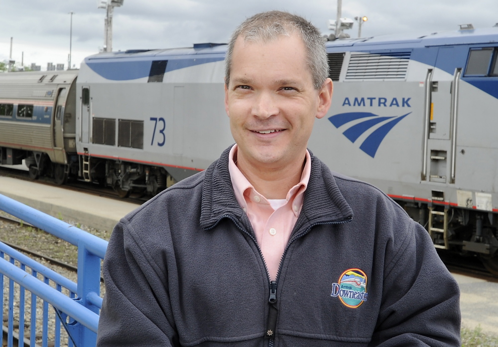 Brian Beeler II, manager of passenger services for the Downeaster