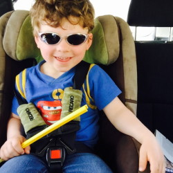 Theo, nearly 4, embraces being part of a one-car family. Laura McCandlish photo