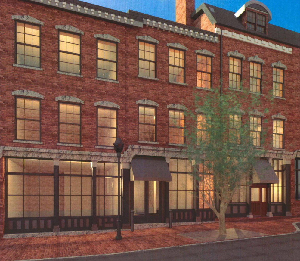 Preliminary drawings submitted to the city indicate the 26 residences planned at 10 Exchange St. will be condominiums.