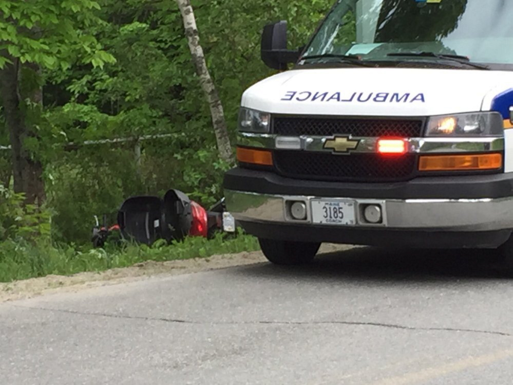 A man driving a motorcycle was killed Friday afternoon when he crashed into a tree on Quaker Road in Sidney.