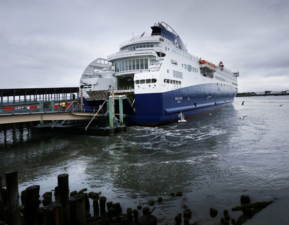 The Nova Star, which makes daily round-trips between Portland and Yarmouth, Nova Scotia, is being provisioned by suppliers in Canada rather than in Portland this year, a move largely driven by political pressure from the Nova Scotia government. In addition, the favorable exchange rate – the Canadian loonie is worth only 80 cents to a U.S. dollar – is making it harder for Maine companies to compete on price.
