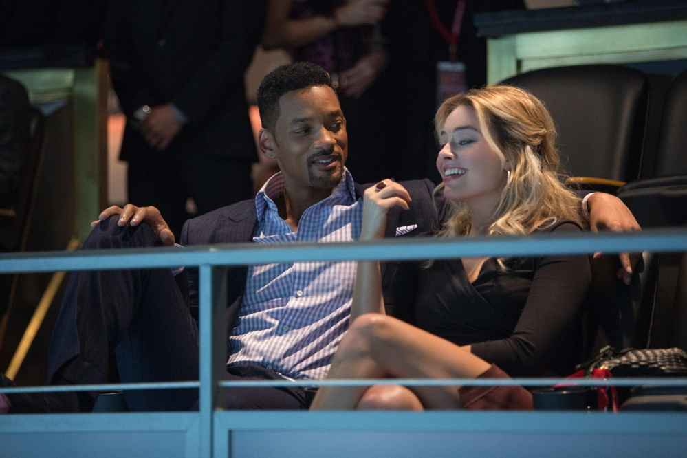 "Will Smith and Margot Robbie in ""Focus."""