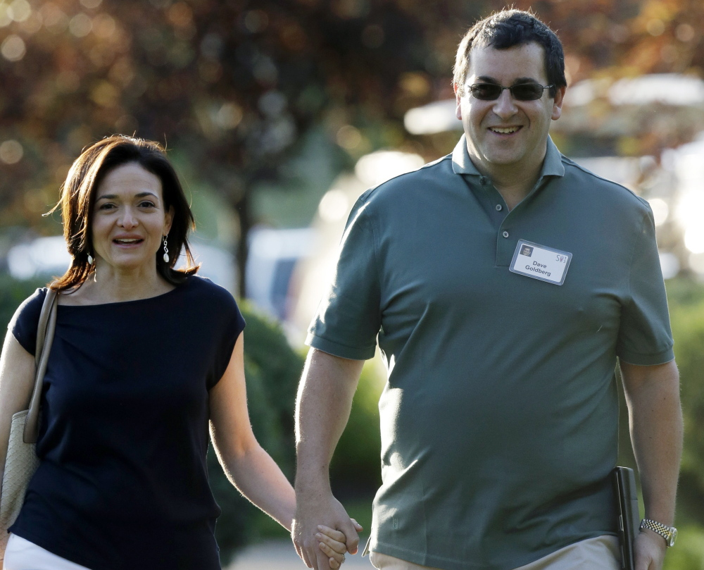 Sheryl Sandberg, Facebook's chief operating officer, and her husband, Dave Goldberg, in 2013.