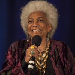 Nichelle Nichols is having full conversations and is in good spirits after suffering a stroke, her manager says.