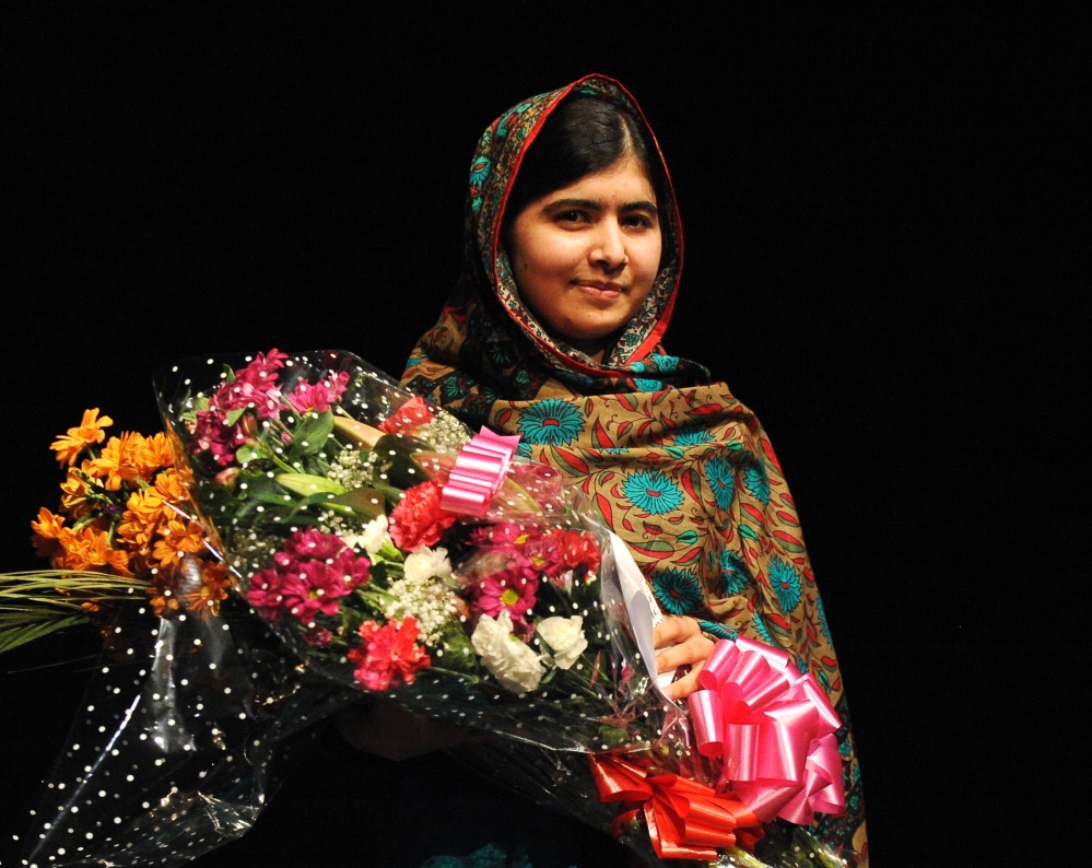 Malala Yousafzai, addressing the media after winning the Nobel Peace Prize in 2014, was targeted by Taliban militants because she advocated education for women.