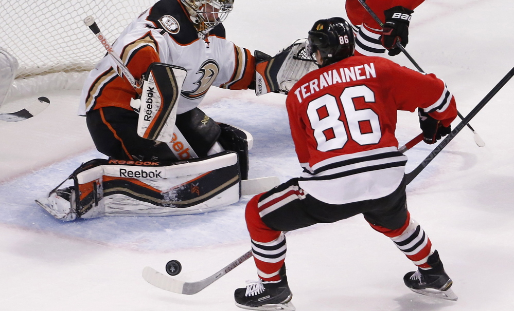 Teuvo Teravainen scored only nine points for the Blackhawks during the regular season, but the 20-year-old rookie has become a key contributor in the playoffs.