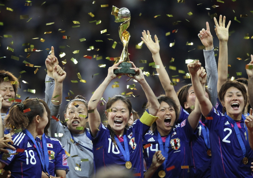 Four years ago, Japan pulled the major surprise, winning the Women's World Cup by defeating the United States on penalty kicks in the final. Japan's captain, Homare Sawa, center, will compete again. The event starts Saturday and ends July 5.