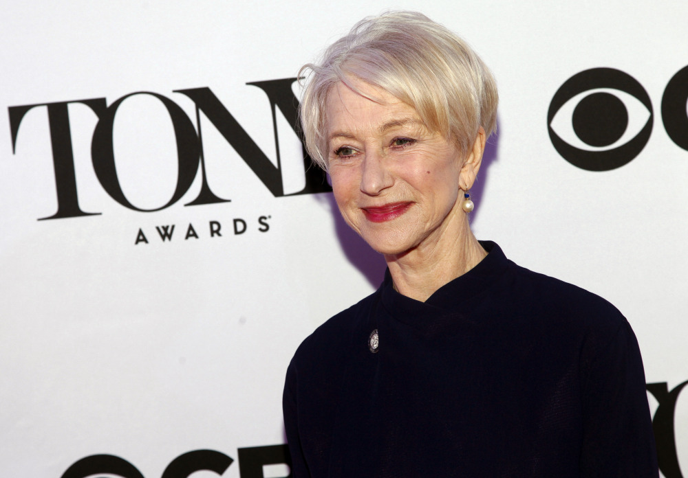"Helen Mirren is nominated for a Tony award for her role in ""The Audience."" The awards will be held on Sunday."