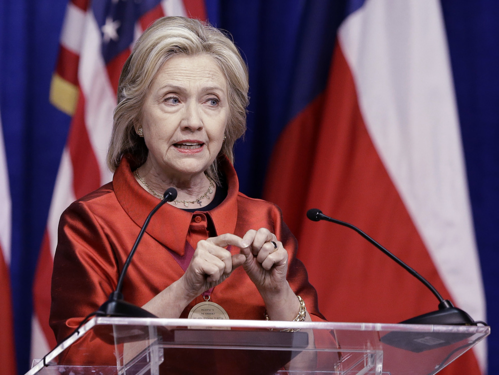 Democratic presidential candidate Hillary Rodham Clinton delivers a speech at Texas Southern University in Houston, Thursday.