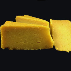 "Chef Chris Roberts aged this cashew cheddar for 30 days and says it ""fooled the deli manager at the Belfast Co-op."""