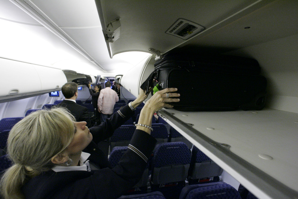 Overhead baggage areas are becoming more and more cramped, as passengers try to avoid hefty fees to check their luggage. But now the airlines might be reducing the size of carry-on luggage.