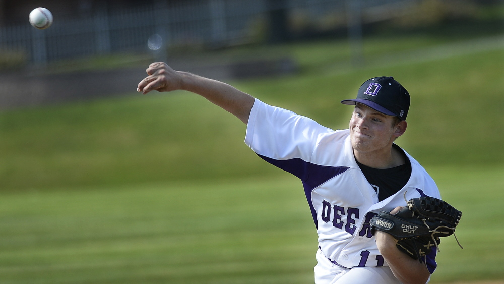 June 9: Sam Luebbert of Deering pitched a five-hitter with seven strikeouts in leading the Rams to their first playoff win since 2010.