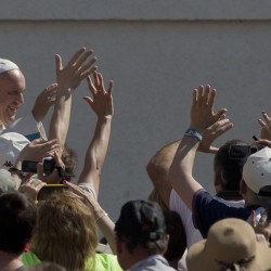Pope Francis arrives in St. Peter's Square at the Vatican on Wednesday. The sex abuse scandal exploded decades ago partly because bishops moved pedophile priests around or sent them off for therapy, rather than report the crimes to police.