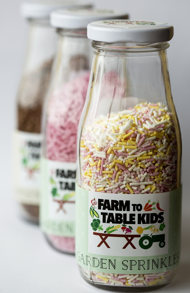 """Garden Sprinkles"" from Farm to Table Kids in a variety of colors"