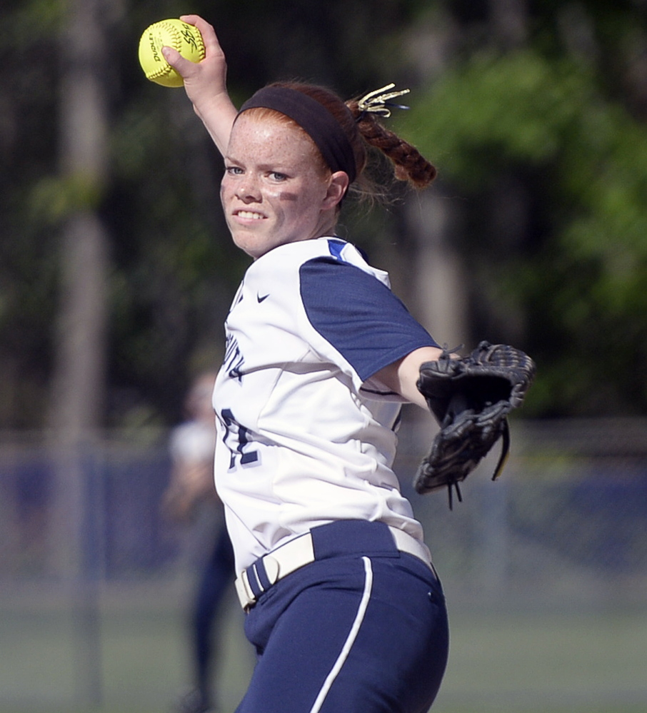 Yarmouth pitcher Mari Cooper was in control from start to finish, striking out nine while limiting Leavitt to three hits as the fourth-seeded Clippers earned a semifinal date with No. 1 Greely on Saturday.