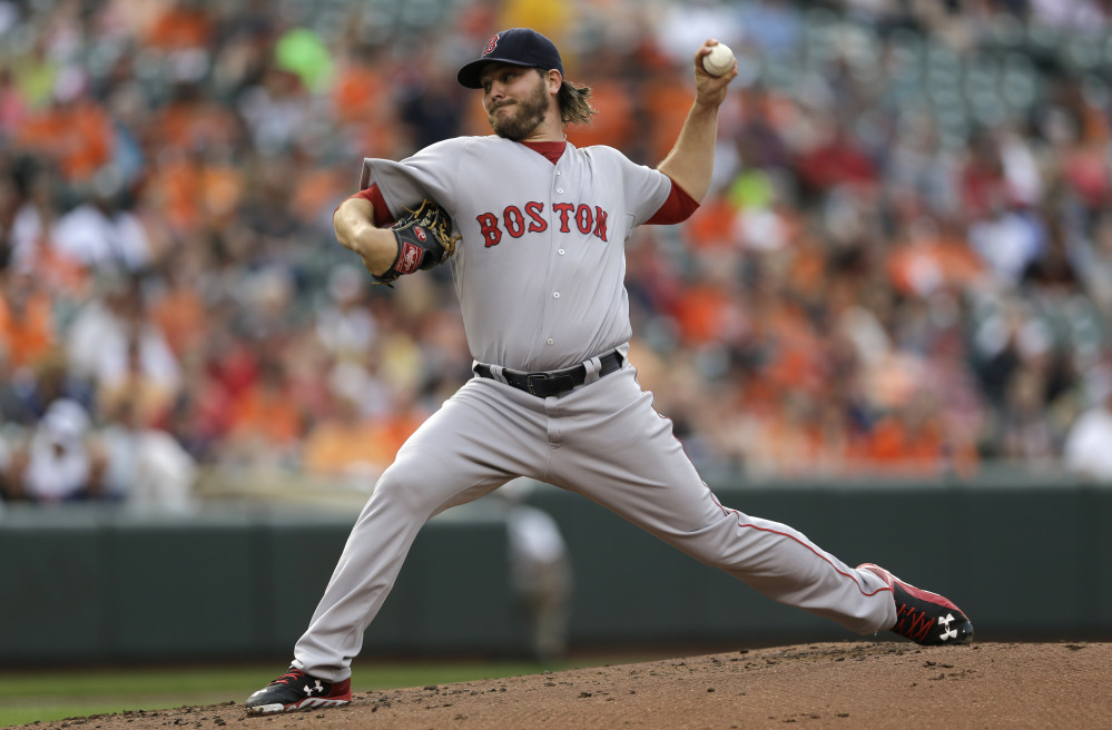 Red Sox starter Wade Miley gave up five runs and nine hits to the Orioles in just four innings Thursday night, and the Red Sox never caught up.