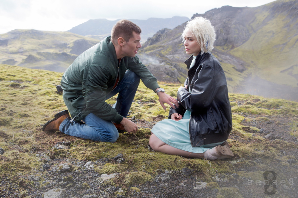 Still of Max Riemelt and Tuppence Middleton in