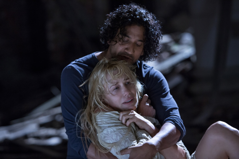 "Naveen Andrews and Daryl Hannah in a scene from Netflix's ""Sense8,"" which debuted this month."