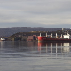 A ship loading iron ore maneuvers in the Norwegian Arctic port of Narvik. Portland in 2016 will host a meeting of the Arctic Council, which has eight member countries: Canada, Denmark, Finland, Iceland, Norway, Russia, Sweden and the United States.