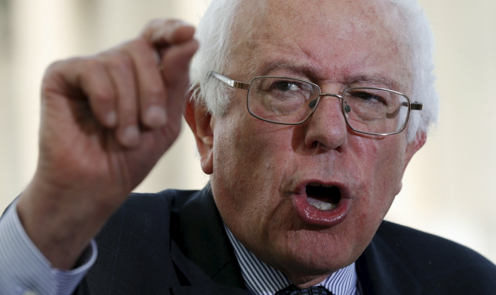 Sen. Bernie Sanders says he is working on a tax package that will bump rates for the top tier.