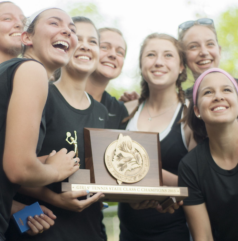 The faces change and the schools change – this year it's North Yarmouth Academy – but one thing stays constant. No Eastern Class C team has won a girls' tennis state championship.