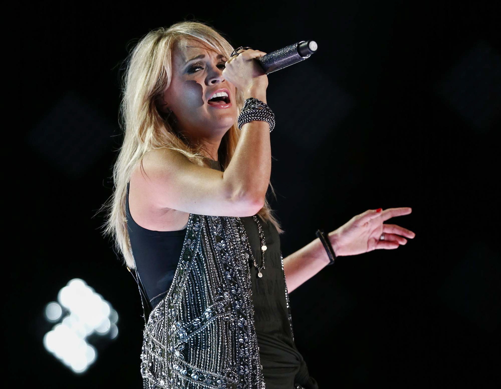 Carrie Underwood performs at LP Field at the CMA Music Festival on Saturday in Nashville, Tenn.