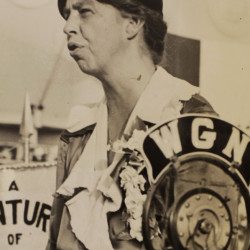Eleanor Roosevelt is just one of many women who could be selected to appear on the $10 bill. She is seen here during Women's Day at the World's Fair in Chicago in 1933.