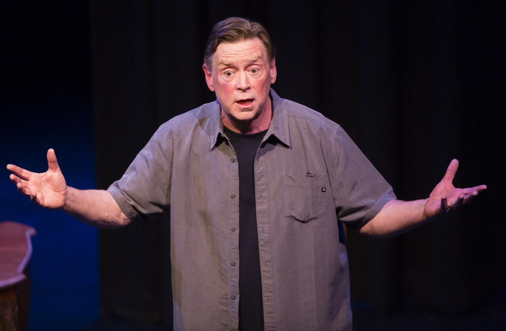 "Still standing after a horrific accident that killed his wife in December, Tony Reilly returned to the stage Wednesday at the St. Lawrence Arts Center in ""The Coma Monologues."""