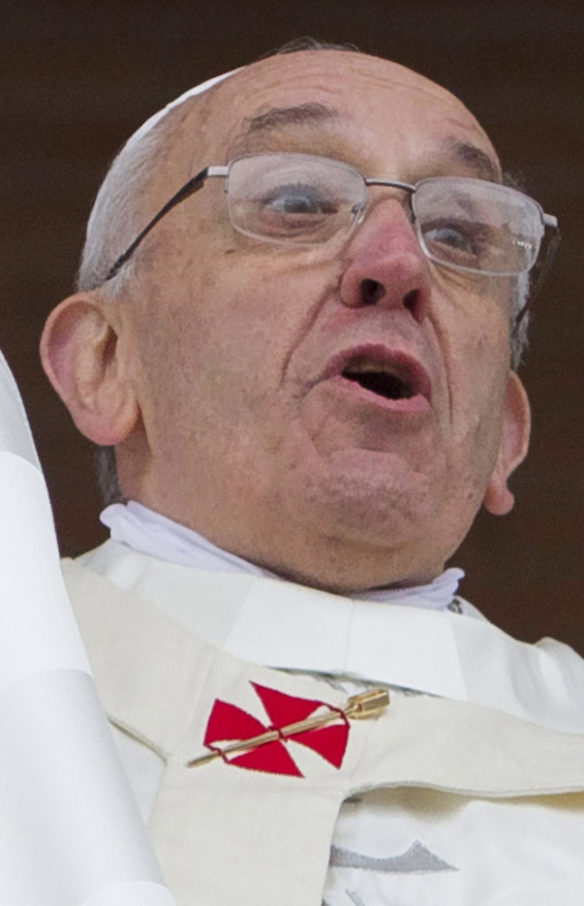 """""""Doomsday predictions can no longer be met with irony or disdain,"""" Pope Francis says. """"The pace of consumption, waste and environmental change has so stretched the planet's capacity that our contemporary lifestyle, unsustainable as it is, can only precipitate catastrophes."""""""