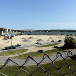 Crews prepare this site on Commercial Street near the Casco Bay Bridge for an expansion of the International Marine Terminal. Plans call for the construction of an adjacent cold storage facility.