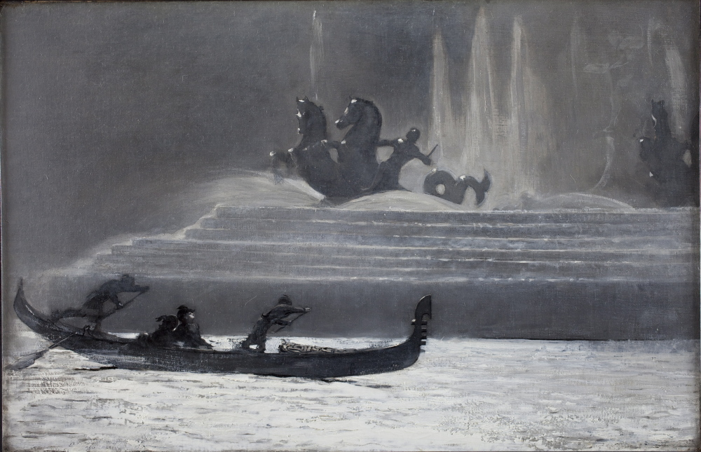 """The Fountains at Night, World's Colombian Exposition,"" 1893, by Winslow Homer."
