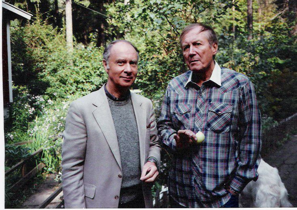 Journalist Robert C. Nelson, left, fulfilled a longtime dream in the 1980s by meeting and interviewing Russian poet Yevgeny Yevtushenko.