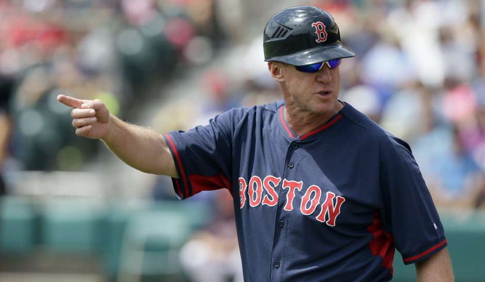 Red Sox third base coach Brian Butterfield is accomplished as a coach – he helped Derek Jeter improve his fielding – and comes by it rightly as the son of a University of Maine skipper.