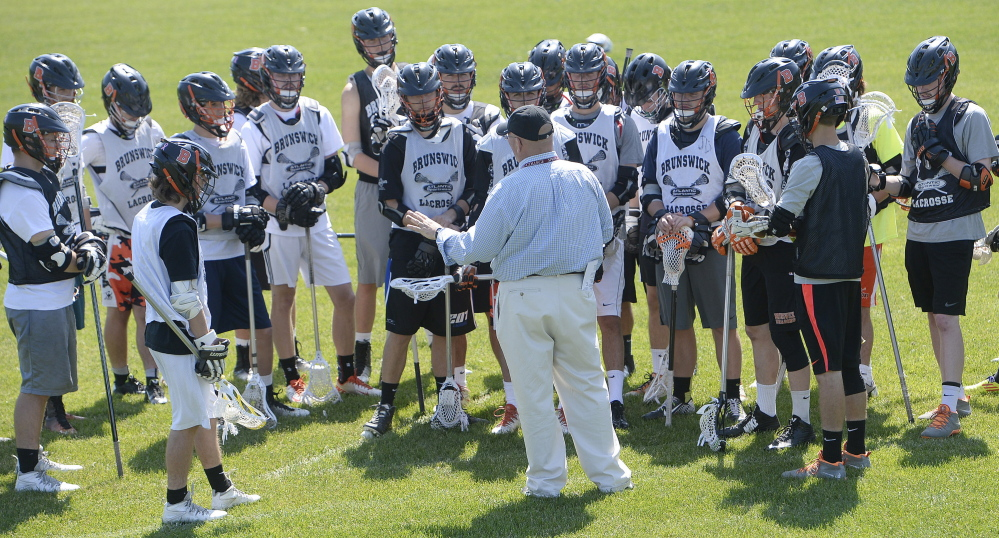 Brunswick Coach Don Glover has built a boys' lacrosse program that some other towns can only envy. Boys are playing from the third grade on and the results show in high school, where the Dragons have become consistent contenders for the Class A state championship.
