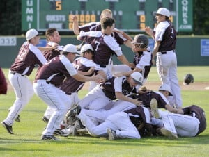 For the second straight season, Greely High got to celebrate a baseball state title. The Rangers scored six runs in the second inning Saturday on their way to a 10-0 victory over Camden Hills to win their fourth Class B state title in nine years.