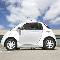 Google's new self-driving prototype cars are cruising on streets near the company's campus.