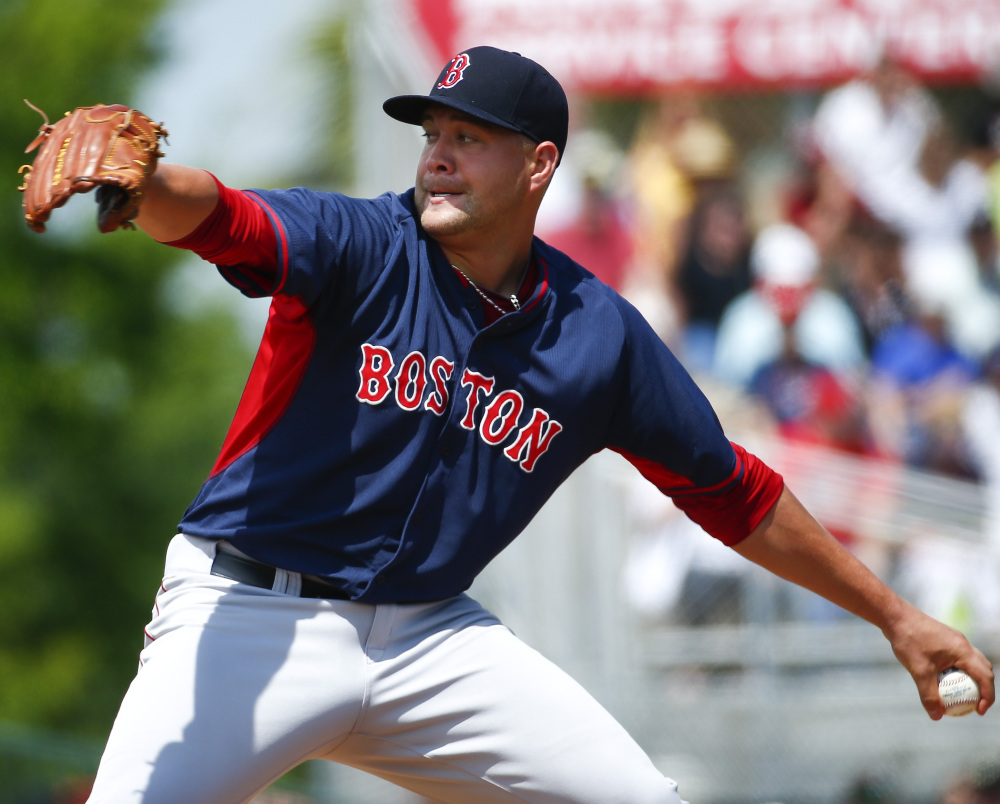 Brian Johnson received one start for the Boston Red Sox in spring training, against the Miami Marlins. His uniform shirt may say Boston again before long with the season he's having for Triple-A Pawtucket.