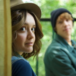 "Olivia Cooke and Thomas Mann in ""Me and Earl and the Dying Girl."""