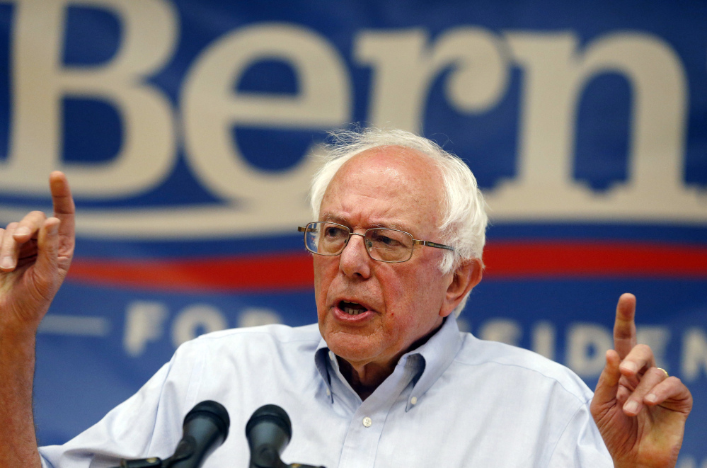 Democratic presidential candidate Sen. Bernie Sanders, I-Vt., will speak at a town meeting-style event from 7 to 8 p.m. July 6 at The Ocean Gateway off Commercial Street in Portland. The Associated Press